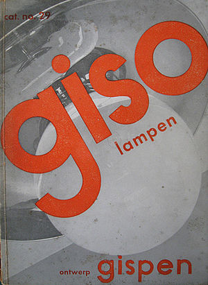 W. H. Gispen - Cover for Gispen Giso lampen catalogue no. 29, designed by W.H. Gispen (1933).