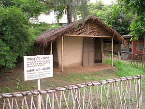 Rabha tribe - A traditional Rabha house