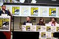 Craig Ferguson, Matt Smith, Jenna Coleman & Steven Moffat (9362692693).jpg