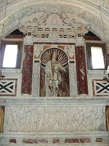 Tomba del santo, nel Santuario dei Martiri