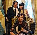 Cristina Fernández de Kirchner Máximo Kirchner Florencia Kirchner 2011-12-10.jpg