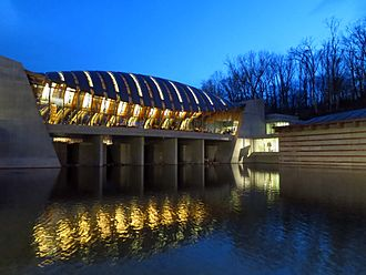 Crystal Bridges Museum of American Art - Crystal Bridges at dusk