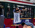 Cubs World Series Victory Parade (30477621240) (Cubs win flag).jpg