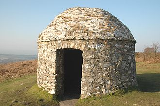 Spanish Armada - Signal station built in 1588, above the Devon village of Culmstock, to warn when the Armada was sighted