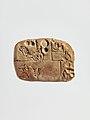 Cuneiform tablet- administrative account concerning the distribution of barley and emmer MET DP297593.jpg