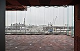 Curved glass as seen from inside the MAS museum (Antwerp, BE).jpg