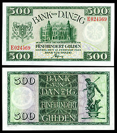 500 Danzig gulden, 1924 issue