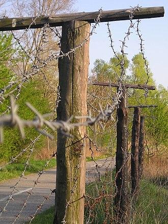 """Iron Curtain - Remains of the """"iron curtain"""" in Devínska Nová Ves, Bratislava (Slovakia)."""