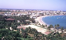 N'gor—a northern suburb of Dakar, near the Yoff Airport