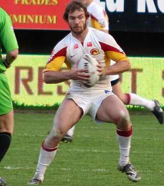 Dallas Johnson - Johnson playing for Catalans in 2010
