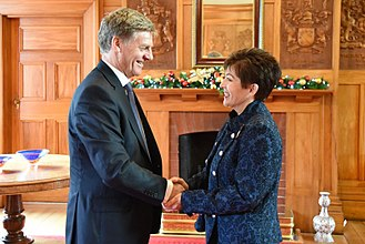 Prime Minister of New Zealand - Governor-General Dame Patsy Reddy appoints Bill English as the 39th Prime Minister, 12 December 2016