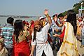 Dancing Devotees - Durga Idol Immersion Ceremony - Baja Kadamtala Ghat - Kolkata 2012-10-24 1321.JPG