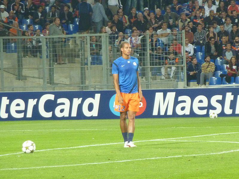 Daniel Congré lors du match MHSC - Arsenal (Ligue des Champions, Phase de poules, 1er match, 18/09/2012