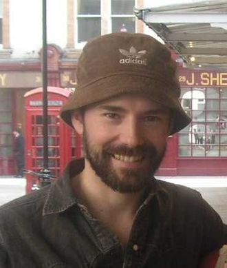 Daniel Evans (actor) - Evans outside Wyndham's Theatre in the West End, after performing Sunday in the Park with George.