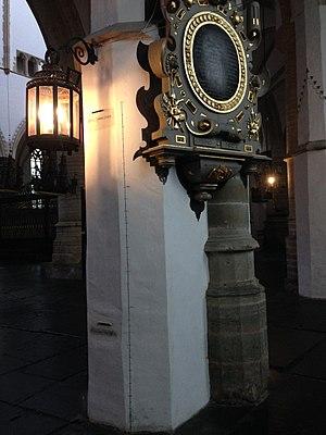 Daniel Cajanus - Pillar in the St. Bavochurch