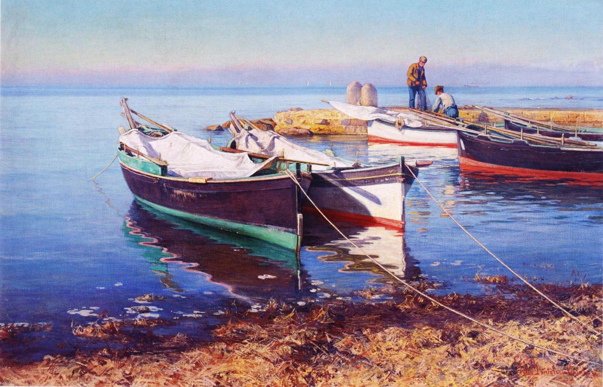 Даниэльсон-Гамбоги, Kalastajaveneitä.jpg