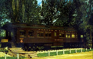 David Moffat - Moffat's private rail car, named for his daughter, Marcia. Built by Pullman in 1909, it is permanently based in Craig, Colorado.
