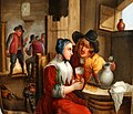 David Teniers II (1610–1690), Le des Jeuner Flamand, Porzellanmalerei, Pfeifenkopf, D1040.jpg