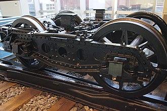 Choshi Electric Railway 100 series - Image: De Ha 103 bogie Tobu Museum 20120118