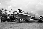 De Havilland Mosquito Mk II of No. 157 Squadron refuelling at Hunsdon, 16 June 1943 CH10312.jpg