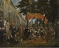 De ontvangst van Charles II en zijn broers in de Schuttershof, 1671, Groeningemuseum, 0040208000.jpg