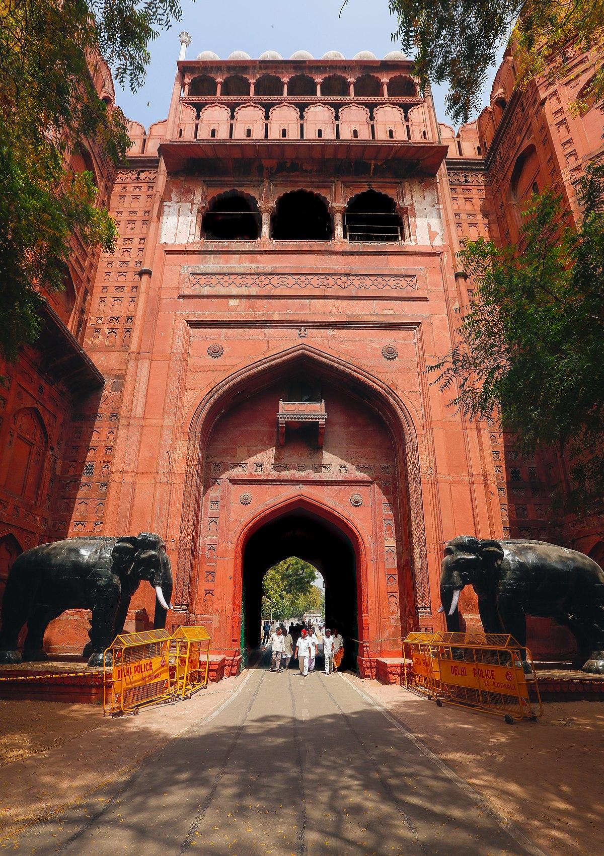 File:Delhi Gate, Red Fort.jpg - Wikimedia Commons