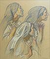Denis Maurice - Pastel & Charcoal - Les pleureuses - 43.5x52.5cm.jpg