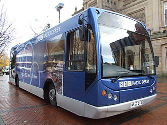 East Lancs Myllennium - An example of a special bodied Myllennium, this one has specially adapted bodywork for its job as a BBC radio bus.