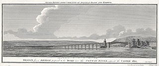 Design for a bridge proposed to be built over the Conway River, opposite the castle 1802