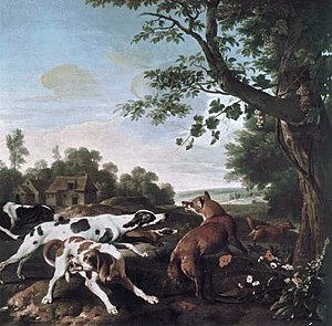 Fox hunting - The Fox Hunt, Alexandre-François Desportes