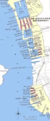 100px devonport dockyard in 1909 plan