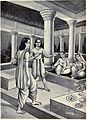 Dhrmavyadha shows his parents to Kaushika.jpg