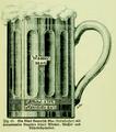 Die Frau als Hausärztin (1911) 045 Ein Glas Bayerisch Bier (Kulmbacher) mit prozentualen Angaben seines Alkohol- Wasser- und Nährstoffgehaltes.png