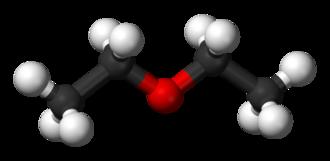 Diethyl ether - Image: Diethyl ether 3D balls