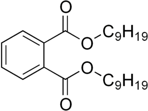 chemical structure of diisononyl phthalate