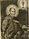 Divo Francisco Borgiæ è Duce Gandiæ tertio, Soc. Jesu generali, à Clemente X Pont. Max. sanctorum clitum fastis ad scripto, Encomia emblemate, prosa, versu in de salvatoris Soc. Iesv ad S. Clementem, (14561892768).jpg