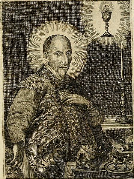 File:Divo Francisco Borgiæ è Duce Gandiæ tertio, Soc. Jesu generali, à Clemente X Pont. Max. sanctorum clitum fastis ad scripto, Encomia emblemate, prosa, versu in de salvatoris Soc. Iesv ad S. Clementem, (14561892768).jpg