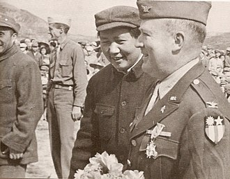 Dixie Mission - Colonel David D. Barrett with Mao Zedong