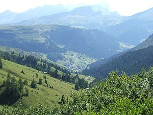 A view of Arabba in the Dolomites.