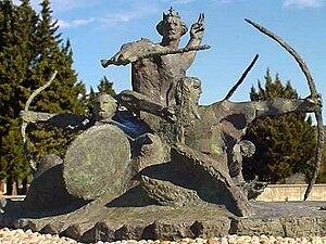 Domagoj of Croatia - Statue Archers of Duke Domagoj in Vid, Croatia