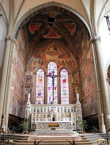 Domenico Ghirlandaio und Werkstatt, Tornabuoni-Kapelle, 1486–1490, Freskenzyklus, Santa Maria Novella, Florenz