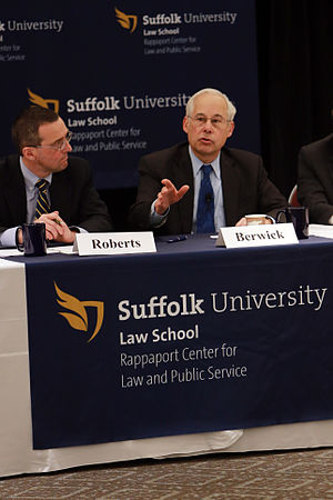 Donald Berwick - Don Berwick speaking at the Rappaport Center for Law and Public Service, Suffolk Law School on January 15, 2014