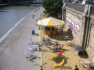 Donaukanal - The canal bank in summer