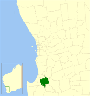 Shire of Donnybrook-Balingup - Location in Western Australia