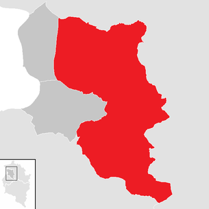 Location of the municipality of Dornbirn in the Dornbirn district (clickable map)
