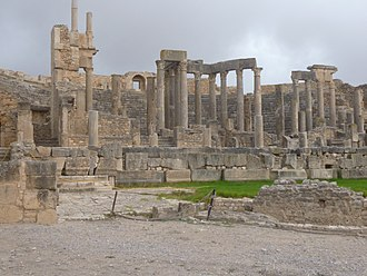 Tunisia - Ruins of Dougga's World Heritage Site.