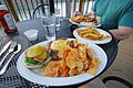 Douthat Lakeview Restaurant-deck-douthatchips-burger (17820615145).jpg
