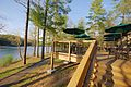 Douthat Lakeview Restaurant-deck-stairs-lake-path (17794125016).jpg