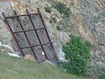 Down at Thistle Dam spillway intake, Jul 15.jpg