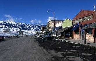 Gardiner, Montana - Downtown, February 1999